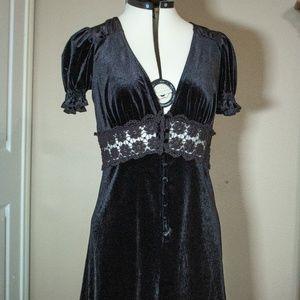 Gothic Style Velvet Dress